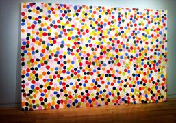 The very first spot painting Damien Hirst ever made in the 1980s…