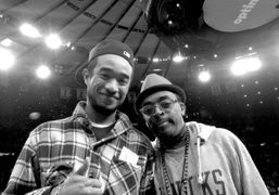 Lucien Smith and Spike Leeduring Knicks game at theMadison Square Garden, New…