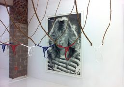 Eric Yahnker'sFarrah Fawcettdrawing, ends tomorrow at The Hole, 312 Bowery, New York….