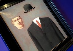 René Magritte's Le Pelerin included in the Alexander the Great exhibition at…