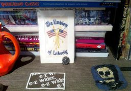 A still life on Wes Lang's book shelf in Brooklyn, New York….