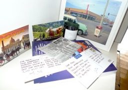 A collection of postcards to Purple from Josef O'Connordocumenting his travels during…