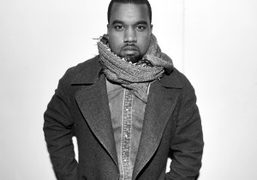 Kanye West after the Raf Simons men's F/W 2013 show, Paris. Photo Stéphane…