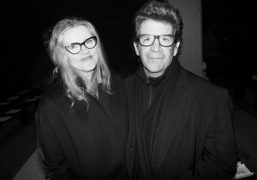 Barbara Sukowa and Robert Longo at the Narciso Rodriguez New York Fashion Week F/W 2014 show,…