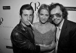 ANDRE SARAIVA, CHARLOTTE RONSON and OLIVIER ZAHM, backstage of Charlotte Ronson Spring/Summer…