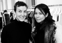 "Sarah Andelman and Creative director of Sacai Chitose Abe at the ""Sacai…"