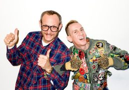 Terry Richardson and Jeremy Scott (as Terry) at the studio, New York….