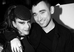 Susanne Bartsch and Nicola Formichetti after the Mugler F/W 2012 Show, Paris….