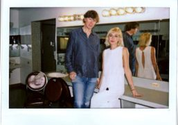Thurston Moore from the legendary band Sonic Youth andAdarsha Benjamin backstage at…
