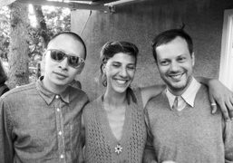 Terrence Koh, Agathe Snow and Garrick Gott at Agathe Snow's opening at…