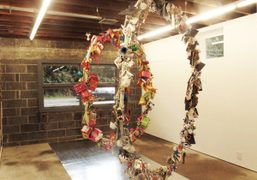 Agathe Snow's sculpture from her show Terrestrial Forms at the Fireplace Project,…