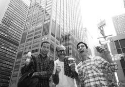 Jack McCollough, Terry Richardson and Lazaro Hernandez, going to the NY premiere…