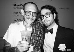 Terry Richardson and Sean Lennon at the premiere of the Vogue documentary…