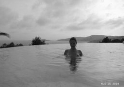 Jennifer Eymere back in the swimming pool, Saint Tropez. Photo Olivier Zahm