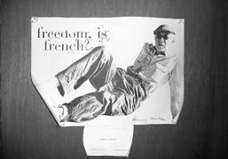 A signed photocopy by Henry Miller pinned to the front door of…