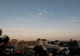 A view of LA from a terrace at The Chateau Marmont, Los…