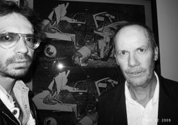 Richard Prince and me, at Larry Gagosian's private party for the new…