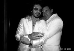 André Balazs and me at the Boom Boom Room Opening, The Standard…