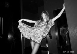 The beautiful Anouk Lepere at the Boom Boom Room Opening, The Standard…