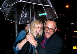 Natasa V and Terry Richardson after the Proenza Schouler Spring/Summer 2010 fashion…
