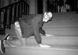 Terry Richardson leaving the L'Wren Scott after party for her Spring collection,…