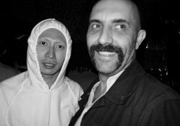 Terence Koh and Gaspard Noé at Le Montana last night, Paris. Photo…