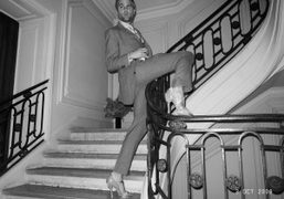 Philippe Hutz wearing Pierre Hardy shoes at the Pierre Hardy 10th anniversary…