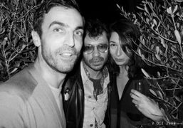Nicolas Ghesquiere, Camille Bidault Waddington and me at the Pierre Hardy 10th…