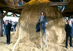 Olivier Zahm posing in the Chanel farm at the Spring Summer 2010…