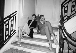 Laurence Hovart and Philippe Hutz wearing Pierre Hardy shoes at the Pierre…