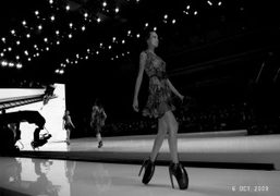 Another view of Alexander McQueen Spring Summer 2010 show, Bercy, Paris. Photo…