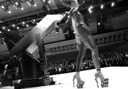 The Alexander McQueen Spring Summer 2010 vicious shoes, Bercy, Paris. Photo Olivier…