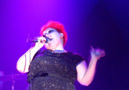 Beth Ditto at The Gossip concert at Terminal 5, New York. Photo…