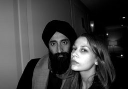 Waris Ahluwalia and Isabelle McNally at the screening of Io Sono L'Amore…