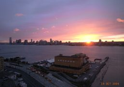 The view of the sunset from the Standard Hotel, New York. Photo…