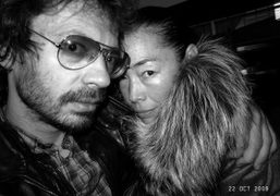 Olivier Zahm and Cecilia Dean at Omen, New York. Photo Olivier Zahm