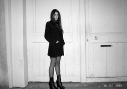 Natacha Ramsay in front of the old Purple Institute, Paris. Photo Olivier…