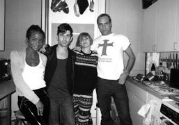 Genevieve Jones, Andre, Sophie Aschauer and Paul Sevigny at Paul's apartment, New…