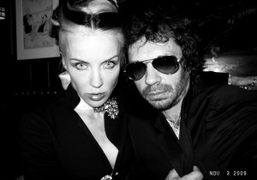 Daphne Guinness and Olivier Zahm at the 21 Club, New York. Photo…