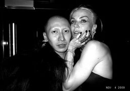 Terence Koh and Daphne Guinness at the Boom Boom Room for the…