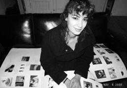 Farinaz at a meeting at Purple office, New York. Photo Olivier Zahm