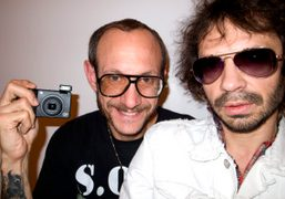 Terry Richardson and Olivier Zahm at Milk Studios, New York. Photo Olivier…