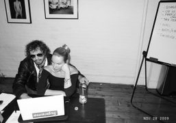 Rita Ackermann and me working at the Purple Office, New York. Photo…
