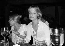 Chrissie Miller from Sophomore and her sister at Bacaro, New York. Photo…