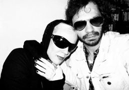 Daphne Guinness and Olivier Zahm at Bar Pitti, New York. Photo Olivier…