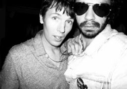 The artist and photographer Ryan McGinley and Olivier Zahm at the Interview…