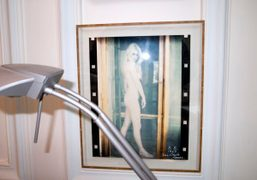 A picture of Brigitte Bardot in my dentist Dr. Jacques Vettier's office,…