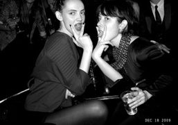 Two sexy british ladies Lucy Newman and Paula Goldstein at André and…