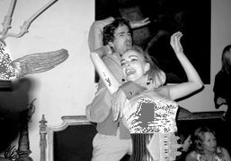 Vincent Darré and Charlotte Chesnais as Madonna dancing at Elie Top's birthday…