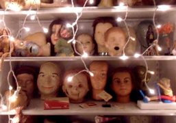 Christmas at Cindy Sherman's studio — here are several shelves of disembodied…